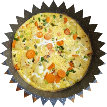 leek carrot omelette_1